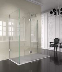 The Shower Lab View 19.3H Walk-in Shower Enclosure with End Return Panel